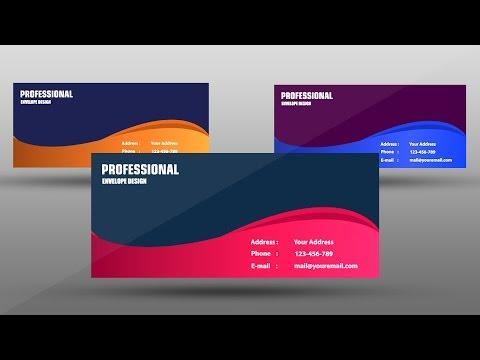 Professional Envelope Design : Adobe Illustrator