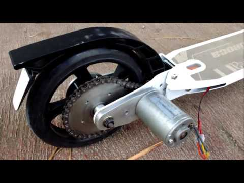 test project e-scooter homemade with brushed motor part 1