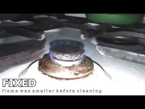 Dirty Gas Stove Nozzle Cleaning (Small Flame)