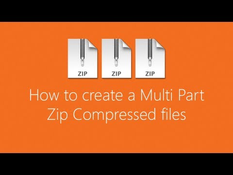 How to create a Multi Part Zip,7z,rar Compressed files [Tagalog]