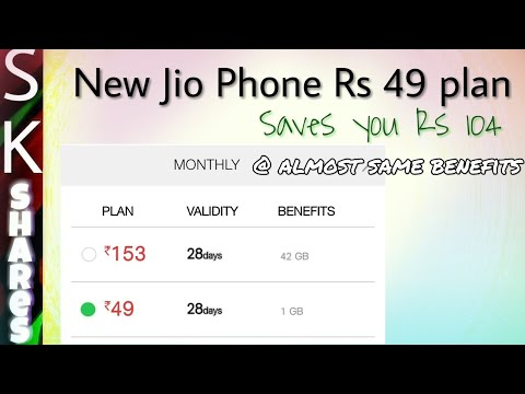 49 Rs plan of Jio phone can save Rs 104