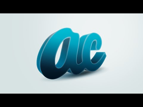 How to make 3D Text Effect | illustrator Photoshop Tutorial