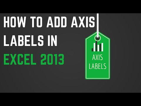 How to Add Axis Labels in Excel 2013