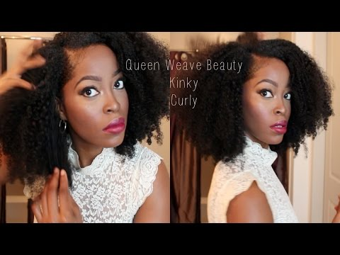 Affordable Kinky Curly hair: Queen Weave Beauty: How to make an install my Brazilian U part wig