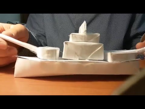How to make a realistic looking paper battleship (part 1)