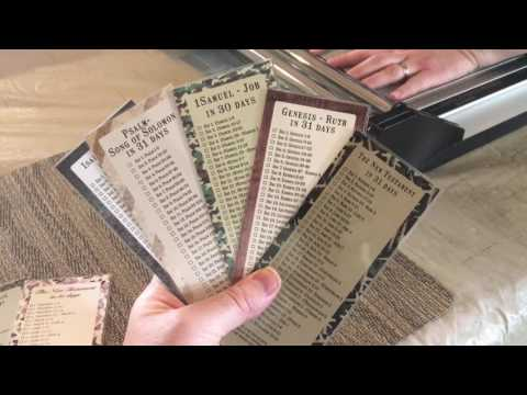 Monthly Bible Reading Bookmarks!