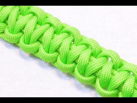 How to make a Paracord Survival Bracelet - Basic Cobra - THE ORIGINAL - Bored?Paracord!