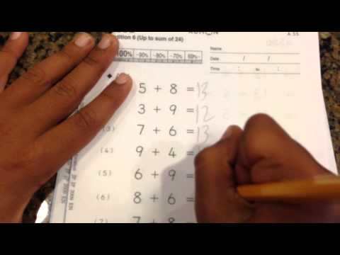 First Grader doing Kumon Math - Practice Makes Perfect