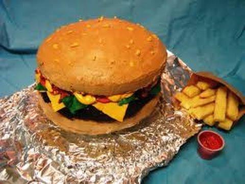 Hamburger cake: Inspired by Nerdy Nummies