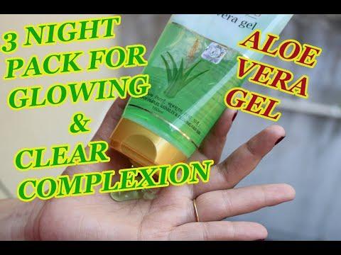 3 Night Pack of Patanjali Aloe Vera gel for Brighten and Glowing skin   whitening skin   clear skin