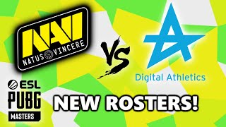 NAVI vs Digital Athletics - NEW ROSTERS! - ESL PUBG MASTERS - Stage 2 - Match 1