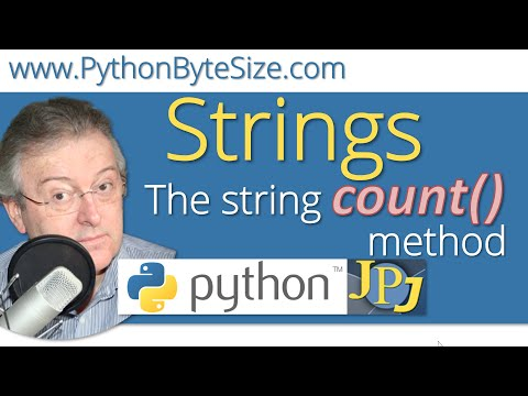 The Python string count method