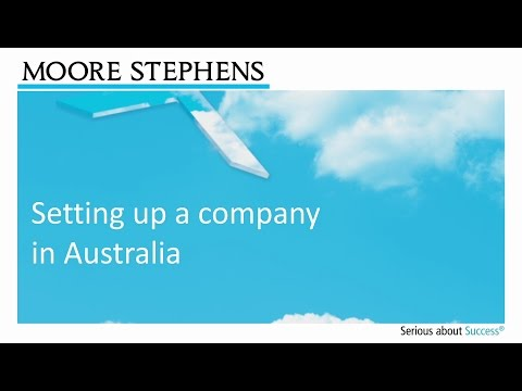 Setting up a company in Australia