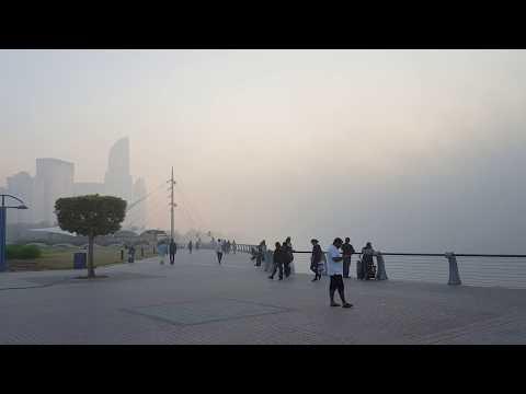 Surprising Weather of Abu Dhabi | Dense Fog before sunset
