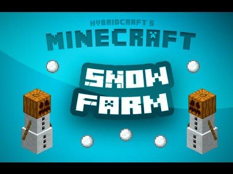 Minecraft Tutorial - How to make a snow farm