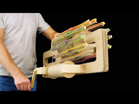How to Build Amazing Rubber Band Machine Gun