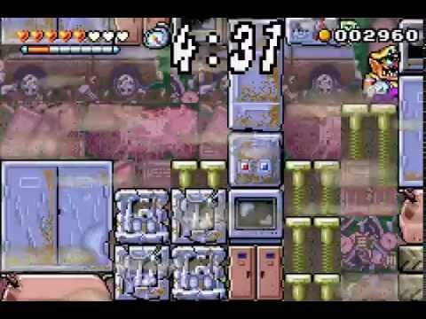 Wario Land 4 Game Boy Advance All Stages with CD locations 60fps