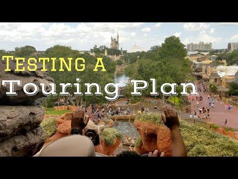 Testing a Touring Plan