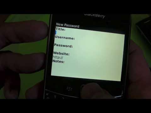 BlackBerry 101: The BlackBerry Password Keeper