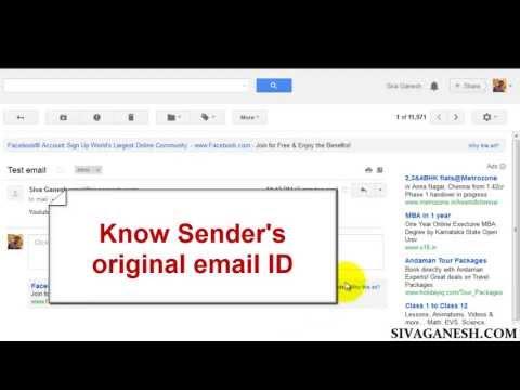 View Sender's original email address