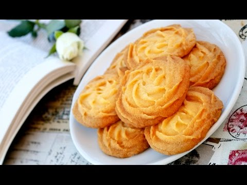 Eggless Butter Cookies Recipe ♥ Melt In Your Mouth ♥