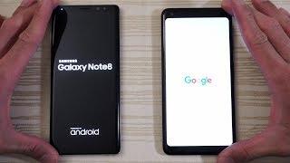Google Pixel 2 XL vs Galaxy Note 8 - Speed Test! (4K)