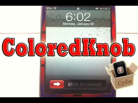 ColoredKnob - Change Lockscreen Slider Know Color iPhone, iPod Touch & iPad