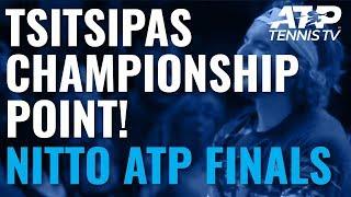 Stefanos Tsitsipas wins the 2019 Nitto ATP Finals!
