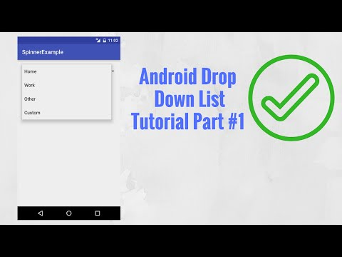 Android Drop Down List Tutorial