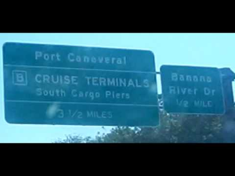 Directions To Port Canaveral, FL  Cocoa Beach. Road view