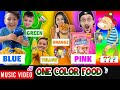 One Color Food 🎵 Raptain Hook (FV Family 24 Hour Challenge Animated Music Video)