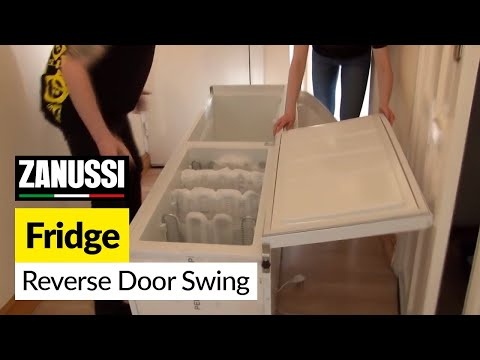 How to reverse the swing on a fridge door on a Zanussi refrigerator