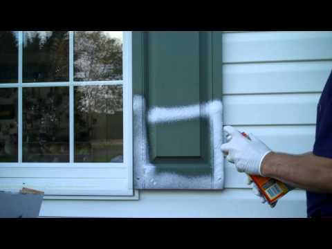 Old, faded vinyl shutters Dont waste time and money painting  Clean them with Tire Foam