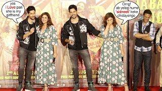 Siddharth Malhotra Finally Accepts L0VE for Girlfriend Parineeti Chopra @JabariyaJodi Promotions