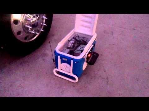 Custom Ice Chest Auio System