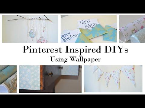 Pinterest Inspired Home Decor DIYs Using Wallpaper