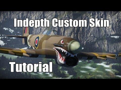 War Thunder - How to Make Custom Skins / Photoshop