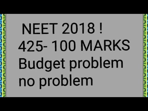 NEET 2018 ! LOW BUDGET LOW SCORE SOLUTION FOR ALL PROBLEMS