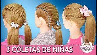 Coletas Con Ligas Para Ninas Peinados Faciles Y Rapidos De Hacer