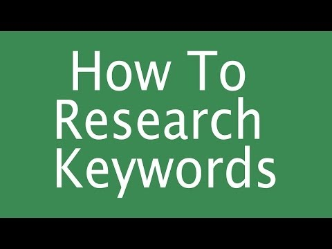 Researching Keywords: How to Research Keywords - How to Find Relevant Keywords