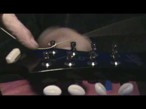 Diz Demonstrates How To String A Mandolin (Same As Guitar) Part 1 of 3