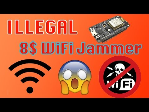 ILLEGAL $8 Wifi Jammer - EASY - iPhone and Android