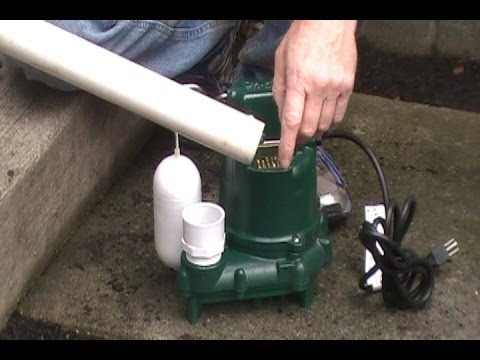 How To Install a SUMP PUMP, Do It Yourself Project For Homeowners By Apple Drains Drainage Contracto