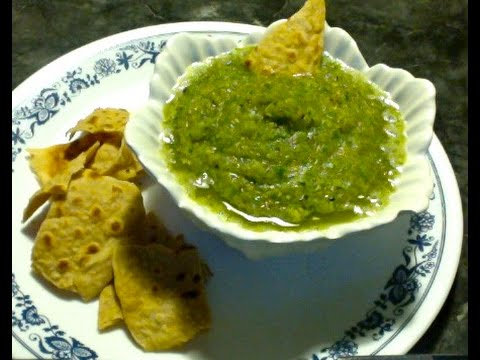 Roasted Green Tomato Salsa - Spicy Mexican Recipe