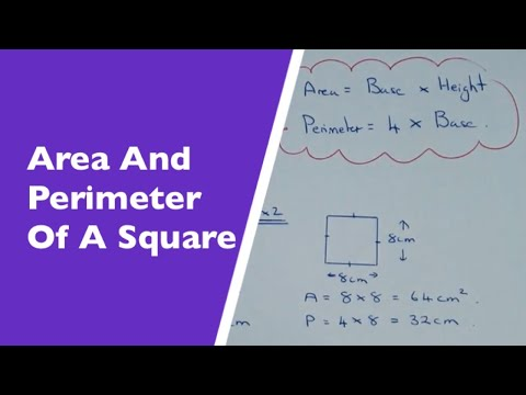 How To Find The Area And Perimeter Of A Square.