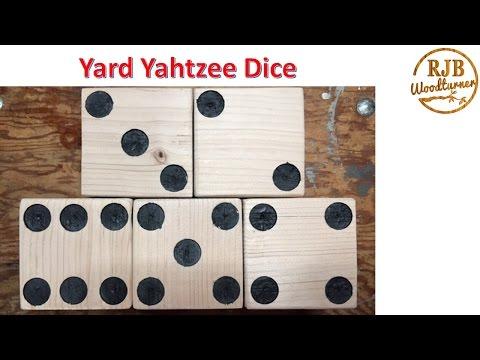 How To Make Yard Yahtzee Dice
