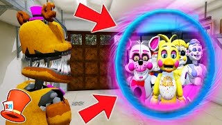 HOW TO TRAVEL TO AN ALL GIRLS ANIMATRONIC DIMENSION! (GTA 5 Mods For Kids FNAF) RedHatter