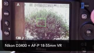 Nikon AF-P vs. AF-S Lens Focusing and Noise Comparison (Nikon D3400)