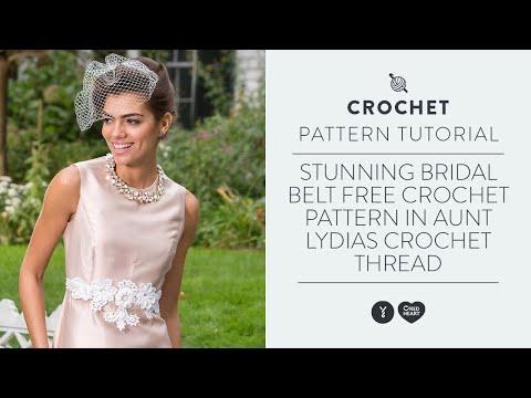 Stunning Bridal Belt Free Crochet Pattern in Aunt Lydia's Crochet Thread