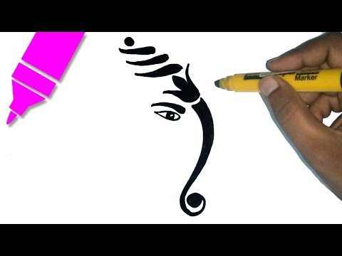How to Draw Lord Ganesha Drawing for Kids Step by step | Ganesh Chaturthi Special